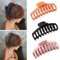 Women Solid Big Bath Hair Claw Frosted Acrylic Hair Clip Hairpin Barrette Gift