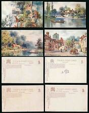 OXFORDSHIRE TUCKS OILETTE 7622 SERIES I ARTIST WIMBUSH...4 CARDS