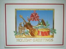 Burgoyne, Inc. ~ GOLD INSTRUMENTS CHRISTMAS GREETING CARD + ENVELOPE
