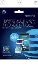 (2X) At&T Prepaid Starter Kit 4G Lte Sim Card for Standard, Micro or Nano Sim.