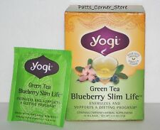 YOGI TEA GREEN TEA BLUEBERRY SLIM LIFE  {ONE BOX}  16 BAGS