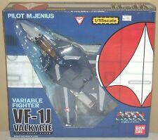 Macross VF-1J Max Jenius Valkyrie 1/55 scale Figures Dolls Bandai 2002 Rare