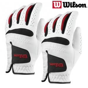 WILSON FEEL PLUS MENS ALL WEATHER GOLF GLOVES / TWIN PACK / 2 GLOVE PACK