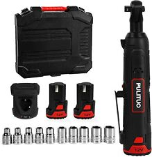 """Cordless Ratchet Wrench,12V Electric Ratchet Wrench Kit 3/8"""" 50Nm 37Ft 5 Sockets"""