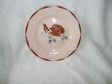 Assiette plate années 30 Digoin Sarreguemines - N°9181 - motif roses 120920