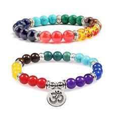 Natural Stone 7 Chakra Healing Bead Balance Bracelet Women Men Yoga Jewelry