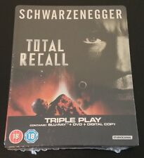TOTAL RECALL Blu-Ray SteelBook UK Arnold Schwarzenegger Sharon Stone New & Rare!