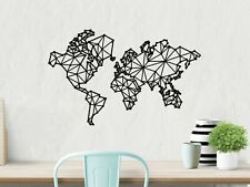 World Map Metal Wall Decor, Large Metal Wall Art, Home Decor Gifts For Travelers