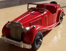 MG MG-TD MG Hubley Kidde Red with Chrome Enhancements Nice  MgTd Antique MG-TD