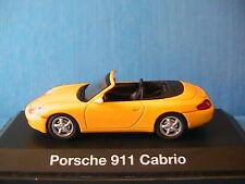PORSCHE 911 (996) CABRIOLET CARRERA SCHUCO 04413 1/43 JAUNE YELLOW GELB 996