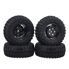"4PCS 1.9"" 96mm Rubber Tire + 4 Holes Wheel Rim for RC1:10 Rock Crawler"