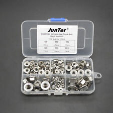 100pcs M3-M10 A2 Stainless Steel Hex Flange Nuts Metric Assortment Kit NO.N005