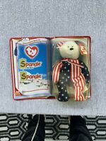 "Ty Beanie Baby ""Spangle"" USA Red White Blue  By McDonalds 2000 New In Packaging"