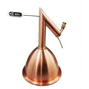 Pure Copper Alembic Pot Still Dome and Condensor Kit No Boiler