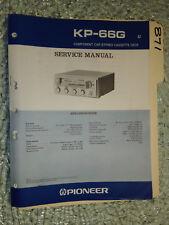 Pioneer kp-66g service manual original repair book stereo car radio tape deck