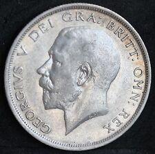 George V Sterling Silver Half Crown, 1914. Better Grade.