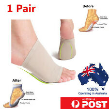 1 Pair Foot Arch Support  Gel Insole Flat Feet Pad Pain Relief Plantar Orthotics