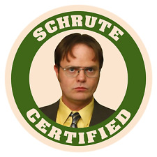 The Office Dwight Schrute Certified Funny Sticker