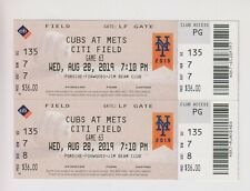 2019 August 28 New York Mets Vs Chicago Cubs TICKET Jeff McNeil Home Run