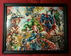 Batman Superman Avengers X-Men Team Framed Art Print DC Marvel Comic Book Gift