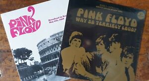 Pink Floyd 2 Lp rare - Why so terribly loud?+Broadcast in Rome gold colour vinyl