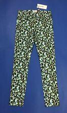 American retro jeans donna nuovo maculato skinny stretch w26 tg 40 verde T3865