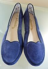 Boden Johnnie B Girls Shoes 1.5 34 Navy Blue Ballet Pumps BNWOB Heart  Smart