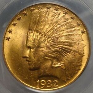 1932 $10 Indian Head Gold Eagle MS63 PCGS 8884.63/14495153 Beautiful Coin!