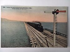 Postcard Lucin Cut-off, across Great Salt Lake Utah Ogden Route Southern Pacific