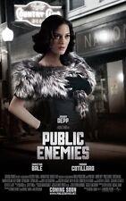 Public Enemies movie poster (e) Marion Cotillard poster : 11 x 17 inches :