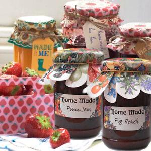 JAM JAR LABEL Chutney Fruit Herb Preserve Marmalade Floral Sticker Homemade Gift