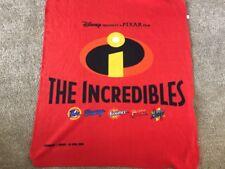 '04 Disney Pixar The Incredibles Kids Blanket Promotional P&G Fleece Throw 37x44