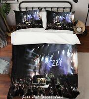 3D Ozzy Osbourne Concert Quilt Cover Set Pillowcases Duvet Cover 3pcs Bedding