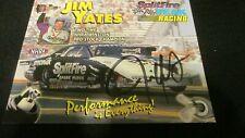 JIM YATES Autographed HAND SIGNED 1999 NHRA PHOTO CARD Split-Fire Peak Racing