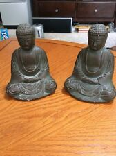 Vintage Austin Productions Budda Bookends ~ Ceramic/Clay ~ 1962 ~ Set of 2