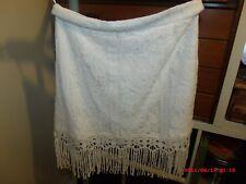 Boohoo Womens Lottie Lace Tassle Trim Mini Skirt in IVORY size 12