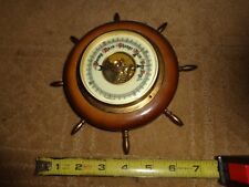 VINTAGE SHIPS WHEEL WEST GERMANY ROUND WALL BAROMETER