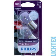 P21W PHILIPS VisionPlus Leistungsstärkeres Licht Scheinwerfer Lampe DUO-Box