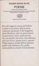 Rainer Maria Rilke, Poesie, Einaudi, 1984, poesia tedesca, Collezione di poesia