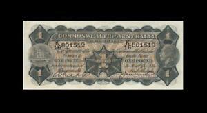 "1927 AUSTRALIA KGV 1 POUND ""Riddle & Heathershaw"" **X-RARE** (( aUNC ))"