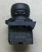 Allen Bradley 800F-X10 Ser A contact block with Black Push Button