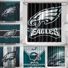 Philadelphia Eagle Team Design Waterproof Shower Curtain Bathroom Accessory Set