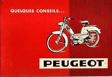 Notice d'entretien & utilisation PEUGEOT cyclomoteur BB mobylette 1965