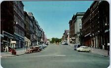 SAINT JOHN, NB   CANADA    KING  STREET SCENE   c1950s   Cars    Postcard