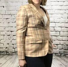 Vintage Pendleton Women's Plaid Virgin Wool Blazer Dress Jacket Holiday size 16
