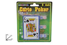 Carte Da Gioco Francesi 1 Mazzo + 6 Dadi Gioco Giocattolo Bambini Adulti moc