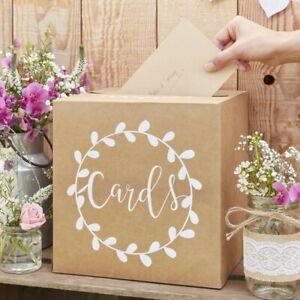 """Vintage Kartenbox """"Cards"""" Kraftpapier Hochzeit Geschenkebox Hochzeitsdeko"""