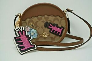 Coach Keith Haring Canteen Signature Canvas Patches Crossbody & Bag Charm F48730