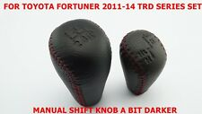 TOYOTA HILUX SR5 FORTUNER SET LEATHER MANUAL-4WD GEAR SHIFT KNOB TRD SERIES