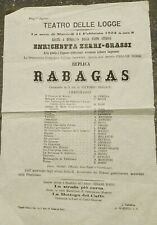 1873 64) Firenze Theatre Lodges: IN Bridesmaid By Henrietta Zerri - Fat